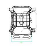 휴대용 초음파 손수레 초음파 트롤리 손수레를 위한 트롤리