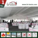 Barraca do casamento de 1500 povos com a parede de vidro para o centro do casamento
