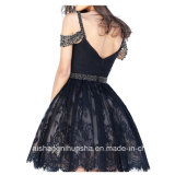 As mulheres Sweetheart Backless Cordão Lace Noite Robes Prom Dress
