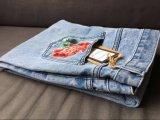 I fiori del vento di modo dell'Europa hanno ricamato i jeans delle donne