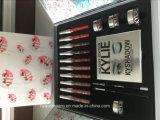 La caja grande 10 del día de Kylie de la venta de la Navidad de la llegada nueva colorea el lápiz labial + el sombreador de ojos + la ceja Gel + el cepillo del sombreador de ojos +