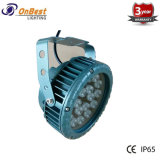 Lumière d'inondation extérieure des ventes chaudes RVB 18W DEL dans IP65