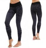 女性の縞の皮の堅く快適な体操のSoprts最下のDriの適当なヨガのレギングか適性のヨガのズボン