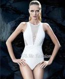Белый глубоким V шеи Sexy роскоши из одного куска Swimsuits для женщин