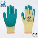 10 de Palm van het Latex van de maat T/C Shell bedekte Kreuk met een laag beëindigt de Handschoenen van het Werk van de Veiligheid (L002)