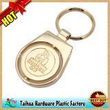 La catena chiave di doratura elettrolitica, gira Keychain, Keychain impresso (TH-mkc080)