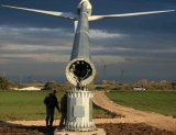 Torre e mastro conetados flange do vento