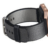 Deportes de la banda de reloj de nylon tejido colorido marco de metal de la banda de caso para Blaze Pulsera
