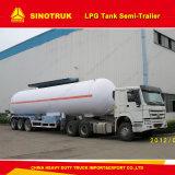 3 Eixo Sinotruk HOWO 58m3 Semi-Trailer do depósito de GPL