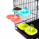 De de vaste Plastic Hondevoer van de Kat en Kom van het Water voor de Kooien van de Katten van Honden