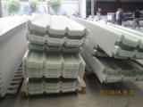 Côte-Type feuilles ondulées de toit de fibre de verre, plaques d'appui en plastique