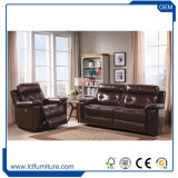 Heimkino Reclinable ledernes Sofa-Eckerecliner-Sofa-Set
