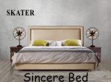 Современном американском стиле кожаные кровати кровати ткани мебель с одной спальней SK21