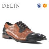 組合せカラー新しいデザイン人牛革方法靴