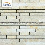 Alta calidad de Piedra Natural Beige Decoraton banda diminuto mosaico de mármol para la venta