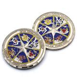 Coutume faite à l'usine de la Chine votre propre pièce de monnaie plaquée par souvenir en laiton antique spécial en métal