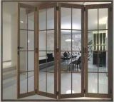 Portello di piegatura di legno e di alluminio con vetro