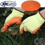 Полиэстер Nmsafety латексные оболочки для рук рабочие перчатки с покрытием