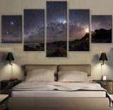 새로운 5개 피스 또는 세트 화포 예술 화포 색칠 HD 은하수 은하는 가정 벽 예술 인쇄 화포를 위한 훈장을 주연시킨다
