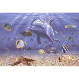 Mattonelle lustrate parete della priorità bassa di arte di Seaworld 3D per la decorazione domestica