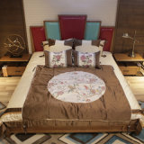 2017寝室セット(CH-623)のための最新のデザイン純木のベッド