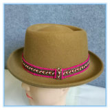 Lã de alta qualidade sentida o Fedora Porkpie Lady Hat