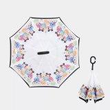 Karikatur-Entwürfe wandelten Regenschirm mit doppelter Schicht um