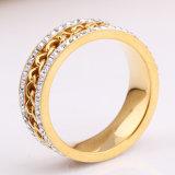 Décoration de cadeaux Fashion or bijoux en diamants bague de mariage