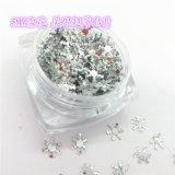 Scintillement de forme de neige pour l'art de clou et la couleur d'argent de série de couleur de perle de beauté de clou