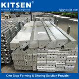Encofrado de aluminio de hormigón reciclado reutilizables.