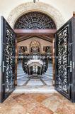 Portello d'acciaio elegante del ferro dell'entrata con il lavoro eccellente del rotolo di Handforged