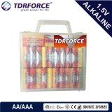trockene alkalische hauptsächlichbatterie 1.5volt mit Ce/ISO 24PCS im Belüftung-Kasten (D/C/AA/AAA/9V)