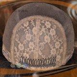 Peluca superior de seda del frente del cordón del pelo humano de la Virgen (PPG-l-01787)