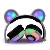 Cuffia d'ardore dell'orecchio dell'orso della scatola sveglia del regalo di natale con l'indicatore luminoso del LED