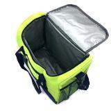Silfrae Sidemeshの2つのパック(緑)が付いている携帯用絶縁された袋の昼食袋の氷パックのクーラー袋