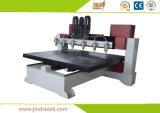 Tisch, der CNC-Fräser mit der 6 Spindel-Wasserkühlung China verschiebt