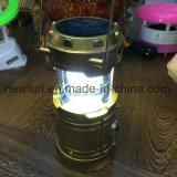 Lampada di campeggio solare e ricaricabile del LED (lampada di soccorso)