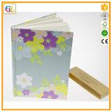 Impresión dura del cuaderno del diario de la cubierta del OEM en papel colorido