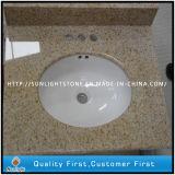 La rouille jaune Granite G682 jaune Vanity Tops avec lavabo en granit