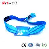 Tessuto di una volta di uso e Wristband tessuto di RFID per gli eventi