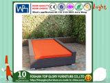 Напольная софа сада места влюбленности ротанга PE мебели