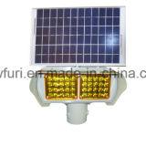 La energía solar el tráfico de los cuatro lados de la luz de advertencia de Flash