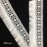 6cmの豪華できれいな刺繍のレースのトリムの花のふさのVeniseのレースのフリンジDIYのアップリケの縫うクラフトHmhb1122