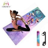 Imprimé en caoutchouc naturel Eco salle de gym lavable pliable tapis de yoga