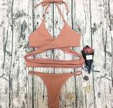 Kundenspezifischer Frauen-Strand-Abnützung-fälliger Bikini-Badeanzug-zweiteilige Badebekleidung