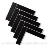 32.5X145mm schwarzes Mattfischgrätenmuster glasig-glänzende Porzellan-Mosaik-Wand-Fliese
