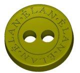 Nouveau style de bouton d'or rose avec logo