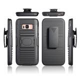 Caisse en gros de clip ceinture de Kickstand d'armure de cas de téléphone cellulaire pour Samsung S8