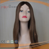 Parrucca superiore di seta della parte anteriore del merletto dei capelli umani del Virgin (PPG-l-01787)