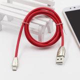 Metal Head TPE Cable USB de carga para el iPhone 8